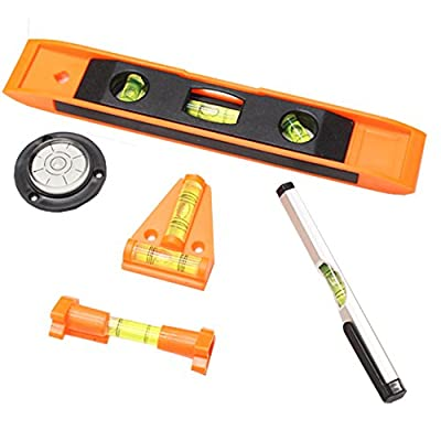 5 Piece Mini Level Set For Plumbing, Carpentry, Masonry And More: TZ7225-SET