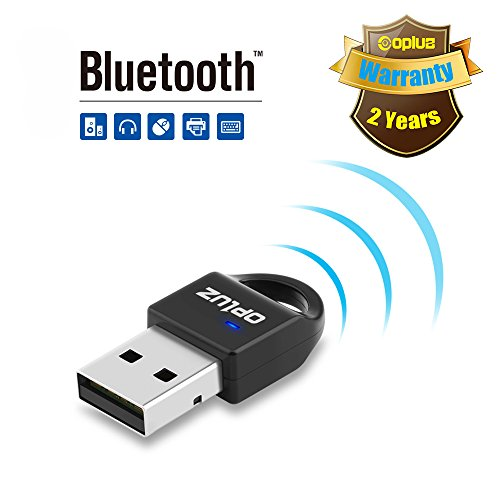 Bluetooth4.0 Adapter, Bluetooth4.0 Network Adapter for Bluetooth Speaker, Bluetooth Headset, Smartphone&Tablet, Bluetooth Printer, Bluetooth Projector, PC/Netbook from Opluz