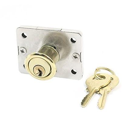 Metal del rectángulo seguridad de la base del cajón de la puerta Cerrojo de bloqueo w