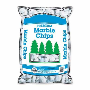 - Marble Chips Bagged 0.5 Cu. Ft. White
