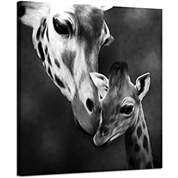 Amazon Com P Graham Dunn Mother Giraffe Kissing Baby