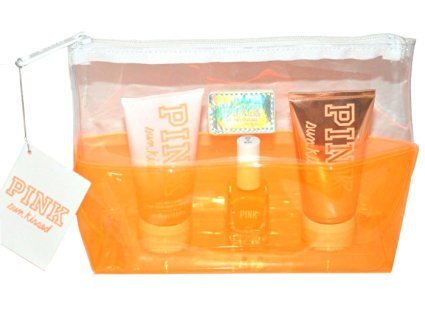 Victoria's Secret PINK Gift Set Sun Kissed Wash Scrub Tanning Gel Nail Polish