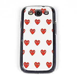 PEACH-For Lovely Eyes of Love Pattern PC Back Case for Samsung S3/I9300