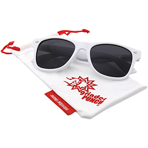 (grinderPUNCH Polarized Sunglasses Great for Driving (White,)
