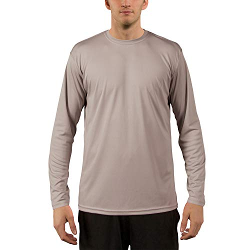 Vapor Apparel Men's UPF 50+ UV Sun Protection Performance Long Sleeve T-Shirt X-Large Athletic Grey