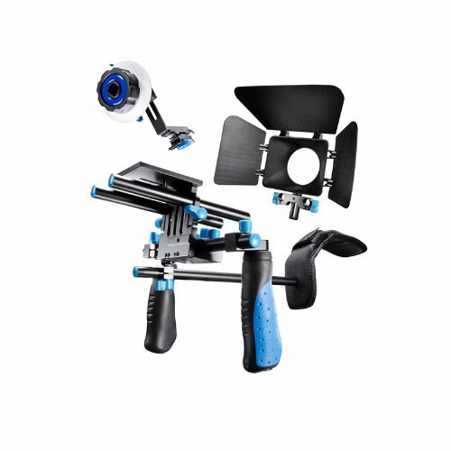 41137isyATL - Morros DSLR Rig Movie Kit Shoulder Mount Rig with Follow Focus and Matte Box for All DSLR Cameras and Video Camcorders
