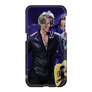 Perfect Hard Cell-phone Case For Samsung Galaxy S6 With Allow Personal Design Realistic Bon Jovi Band Pattern EricHowe