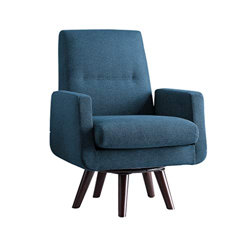 - Homelegance Ameillia Fabric Swivel Accent Chair, Blue