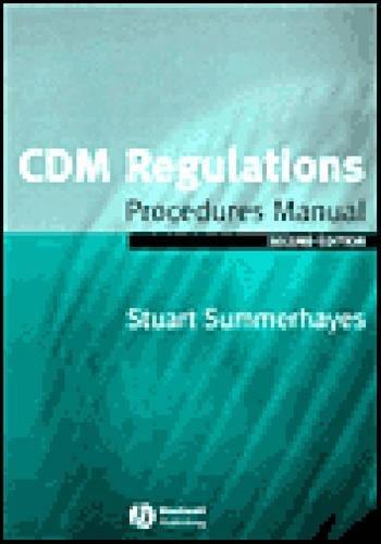 Download CDM Regulations Procedures Manual pdf epub