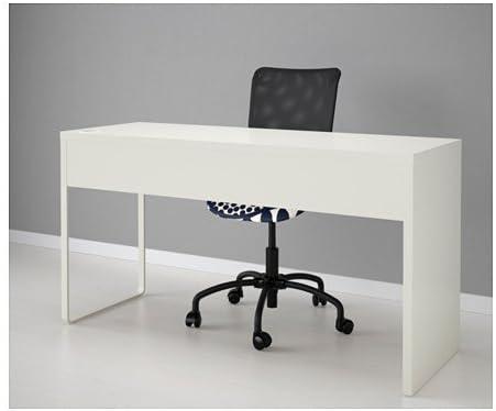 Ikea MICKE escritorio en color blanco; (142 x 50 cm): Amazon.es ...