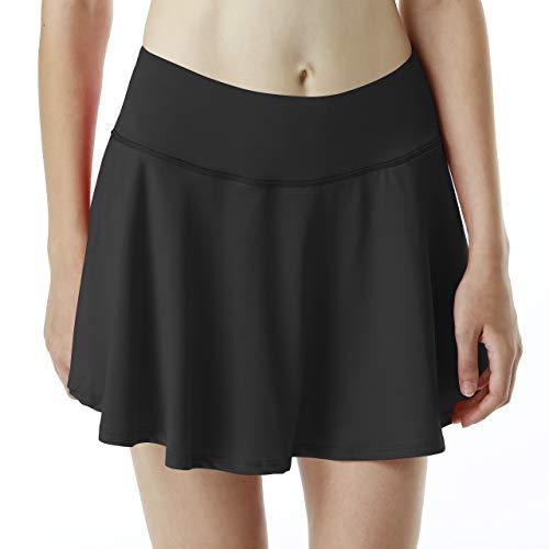 iooho Women's Active Athletic Pleated Skirt Lightweight Skort Pockets Running Tennis Golf Workout – DiZiSports Store