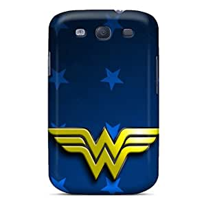 Great Hard Cell-phone Cases For Samsung Galaxy S3 (wxk20168tGwd) Custom Vivid Wonder Woman I4 Image