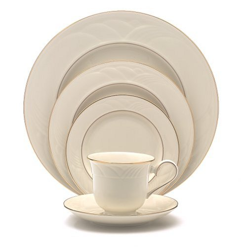 Lenox Golden Sand Dune 5-Piece Gold-Banded Dinnerware Place Setting, Service for 1