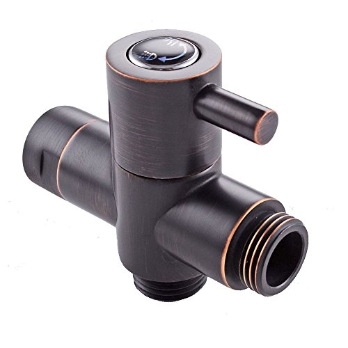 Tub Diverter Valve - 7Trees Bathroom Modern Shower Arm Diverter Valve Quarter Turn Hand Held Shower head Flow Control Hand held Spray Head Diverter (Oil Rubbed Bronze)