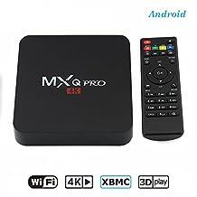 Android 6.0 TV Box with 4K Amlogic S905X Quad-core Cotex-A53 1G+8G Wi-Fi Embedded MXQ PRO Android Set-top Box Mini PC Streaming Media Player Smart OTT TV Box