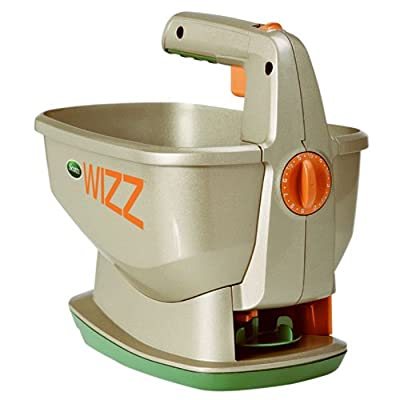 Scotts Wizz Hand-Held Spreader | Spreads Seeds, Fertilizer, and Salt | Battery Powered & Designed For Use Year Round | Featuring EdgeGuard Technology