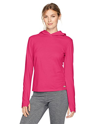 Solstice Apparel Women's Insect Repellent Long Sleeve Hooded Tee, Rose, Medium (Bug Repellent Clothing)