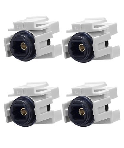 FYL 4x Audio Toslink Optic Fiber Optics Snap-in Jack Insert for Keystone Wall Plate ()