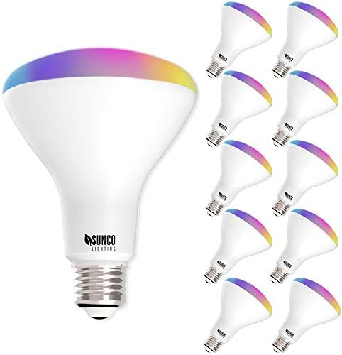 Sunco Lighting 10 Pack WiFi LED Smart Bulb