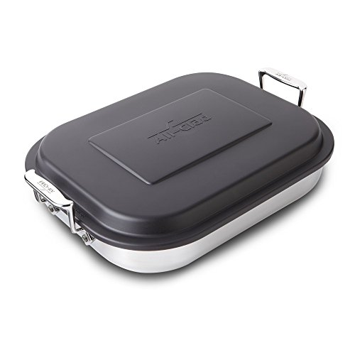 All-Clad Stainless Lasagna Pan with Lid 14.5 x 11.75