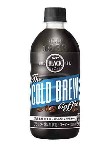 UCC 블랙 커피 콜드 브루 무가당 500ml × 24 개