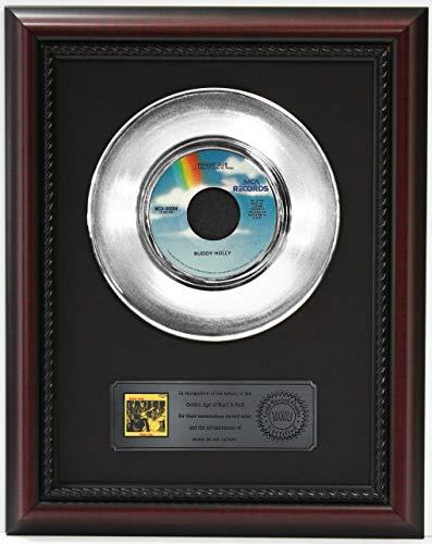 Buddy Holly Peggy Sue Platinum Record Framed Cherrywood Display