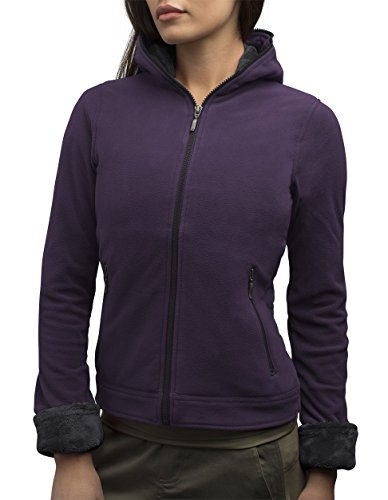 SCOTTeVEST Chloe Womens Hoodies - Fleece Sweatshirts for Women - Fleece Hoodie (DAR M)