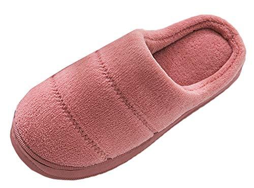 Femmes Bureau Rose Salle Slip à Hiver Snone Chaussures Automne Pantoufle Séjour extérieur Sandales de Intérieur de Slippers Foncé de Chaleur Hommes Pantoufles Coucher Accueil Anti wgxw1qFY