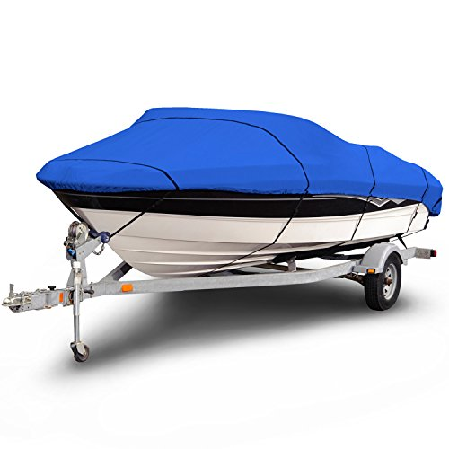 Budge 1200 Denier Boat Cover fits V-Hull Runabout Boats B-1200-X6 (20' to 22' Long, (Large Boat Cover)
