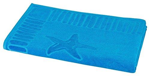ZOLLNER hochwertiges Strandlaken / Strandtuch 100x200 cm türkis, in weiteren Farben erhältlich, direkt vom Hotelwäschehersteller, Serie