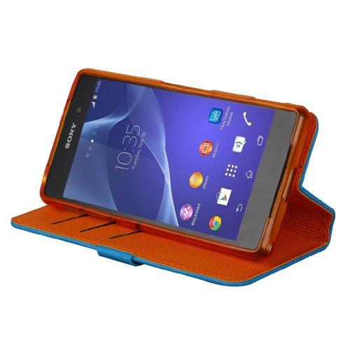 Cruzerlite Bugdroid - Funda  para Sony Xperia Z2 - trullo / naranja Teal/Orange