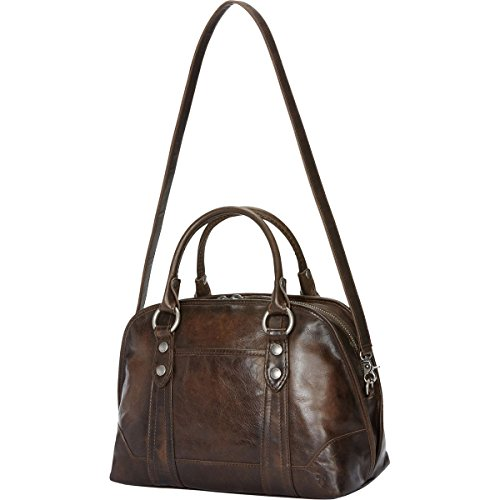 FRYE Melissa Domed Satchel Bag, Slate, One Size by FRYE