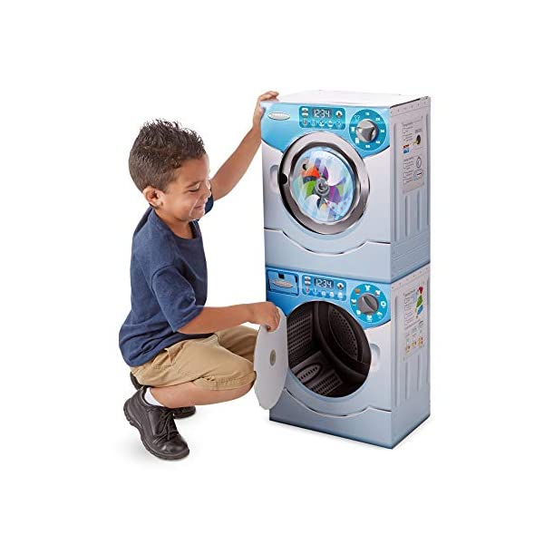Melissa & Doug Washer/Dryer Combo Cardboard Play Set, 1 EA