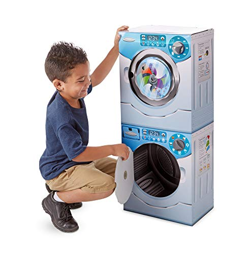 Melissa & Doug Washer/Dryer Combo Cardboard Play Set, - Toys Laundry