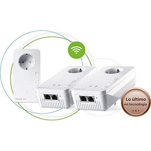chollos oferta descuentos barato Devolo Magic 1 Wi Fi Multiroom Kit con 3 Adaptadores Powerline para una Red Wi Fi Fiable a Través de Techos y Paredes Mediante los Cables de Corriente Conexión en Red Mesh Inteligente