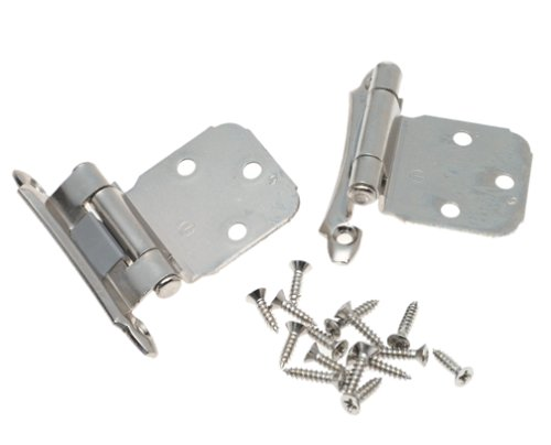 Chrome Cabinet Hinges (Amerock BP792926 Self-Closing, Face Mount Hinge with Variable Overlay - Polished Chrome - 2 Pack)