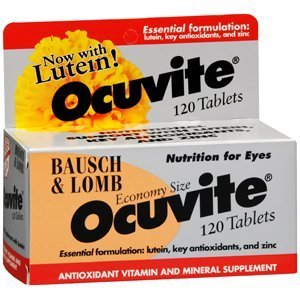 Ocuvite Nutrition For Eyes, Tabs By Bausch and Lomb 120'S ( pack of 3)