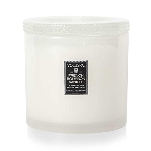 Voluspa French Bourbon Vanille Grande Maison Candle with Lid 36 oz by Voluspa (Image #1)
