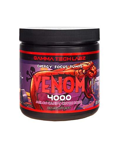 Venom 4000 - Pre Workout Powder - Muscle Builder & Energy Enhancer, Beta-Alanine, Creatine Monohydrate, Enhanced Focus, High Nutrition Blend