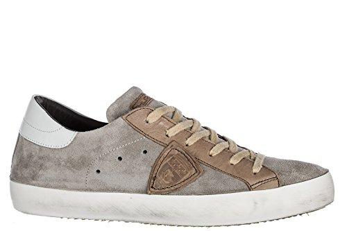 Philippe Model Herenschoenen Mannen Suède Sneakers Schoenen Paris Grijs