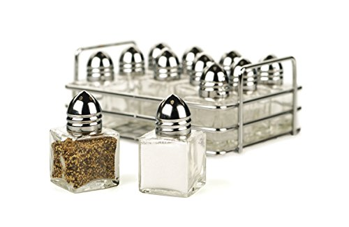 Rsvp Salt (RSVP 12 Piece Mini Salt and Pepper Shaker Set with Rack)