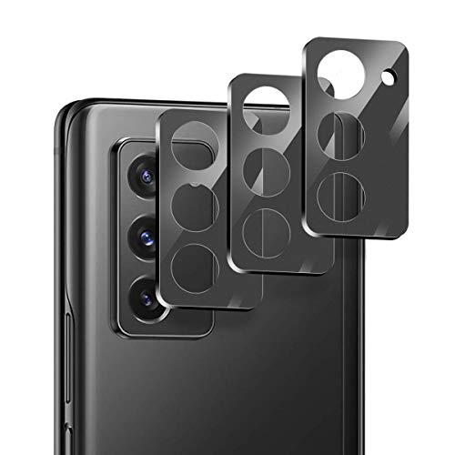 Suoman 3-Pack for Samsung Galaxy Z Fold 2 5G Camera Lens Protector, [Aluminum Alloy] [Not Affect Flash] Camera Lens Protector for Galaxy Z Fold 2 5G - Black