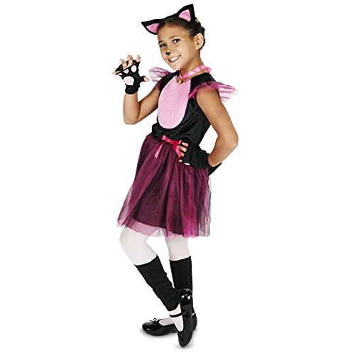 Cat Costumes For Little Girl (Black & Pink Cat Child Costume M (8-10))