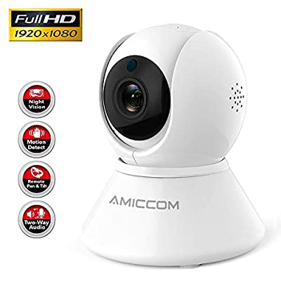 WiFi Camera-1080P Security Camera System Wireless Camera Indoor 2.4Ghz Home Camera with 2 Way Audio Night Vision, Auto-Cruise, Motion Tracker, Activity Alert,Support iOS/Android/Windows