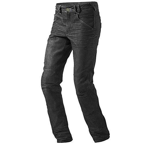 Jet Pantaloni Moto Uomo Jeans Kevlar Aramid Con l'armatura (Nero, 52 Regolare/Vita 36' Lunghezza 32'(XL)) 52 Regolare/Vita 36 Lunghezza 32(XL)) Jet Motorcycle Wear KelvarJeans
