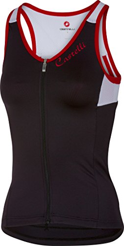- Castelli Solare Sleeveless Jersey - Women's Black/White/Red, M