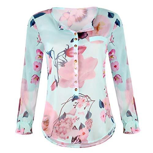 (UONQD Women's Bird Heart Geometric Print Short Sleeve Chiffon Top T-shirt)