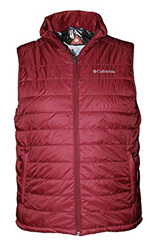 Columbia Men's Crested Butte II Omni Heat Puffer Vest (Red Element/Grey, ()