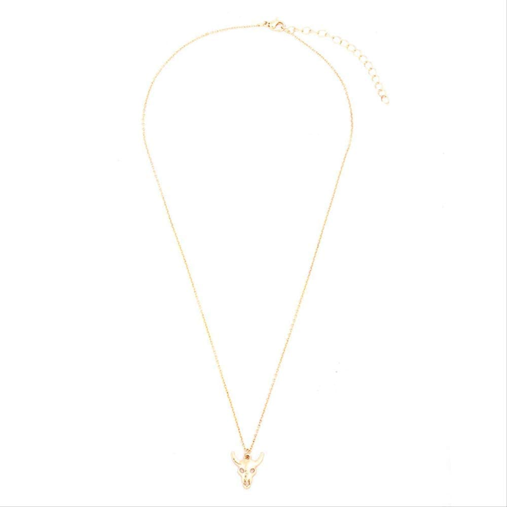 New Sale Bohemian Tauren Pendant Cow Bull Head Necklace Horn Trendy Women Men Jewelry Gift