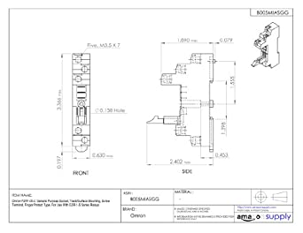 4113FggeqeL._SX342_ omron p2rf 05 e general purpose socket, track surface mounting omron ptf08a e wiring diagrams at fashall.co
